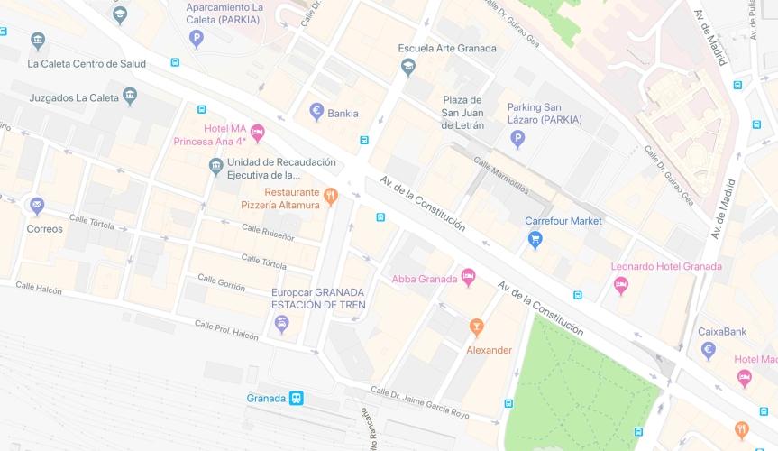 Casi un año después de la puesta en marcha del Metropolitano de Granada es invisible para GoogleMaps.